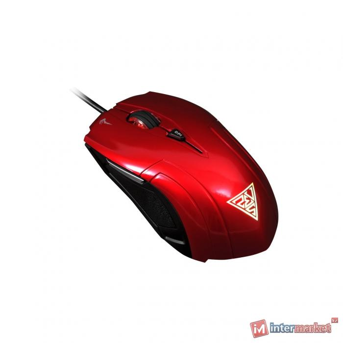 Мышь Gamdias Demeter, Optical, 2000dpi, Red, USB