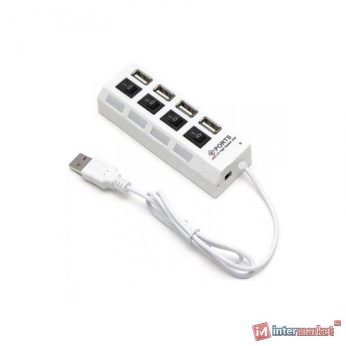 USB хаб Deluxe DUH4004WH, 4 port, USB 2.0 (Белый)